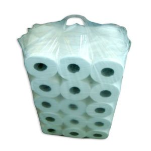 COMPACT  PLASTIC BAG  UNPRINTED FOR  40 TOILET ROLLS