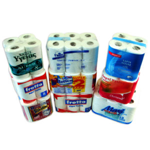 TOILET ROLLS  PACKAGING PLASTIC FOIL
