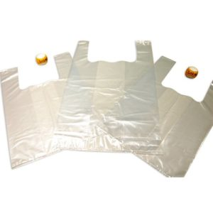SHIRT BAG LDPE  UNPRINTED FOR PATISSERIE  TRANSPARENT