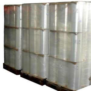PLASTIC SHRINK FILM  FOR SOFT DRINKS  UNPRINTED  PACKAGED IN PALLETS